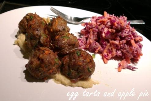 Recipe - Lamb Meatballs - Slaw