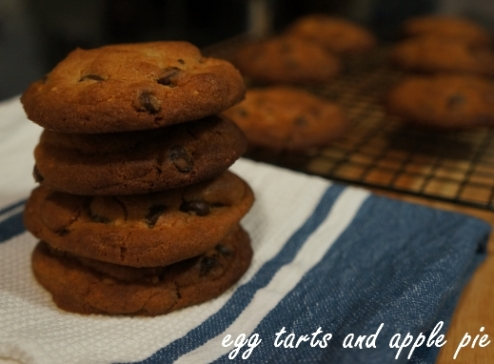 Peanut butter choc-chip cookies