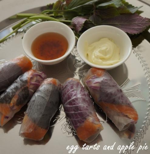 Smoked Salmon Wasabi Mayo Rolls