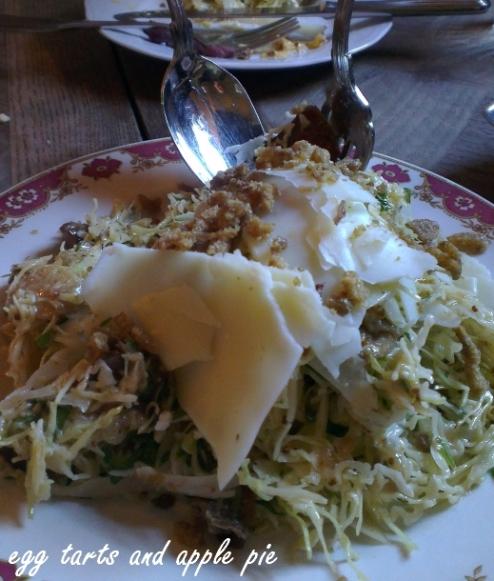 Epocha - Duck Skin Salad w Mushrooms and Cabbage